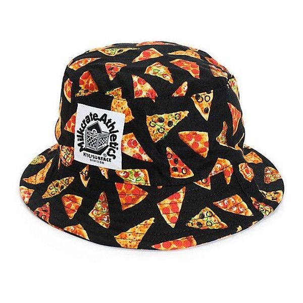 55ed3da3db5 Milkcrate Pizza Bucket Hat ❤ liked on Polyvore featuring accessories