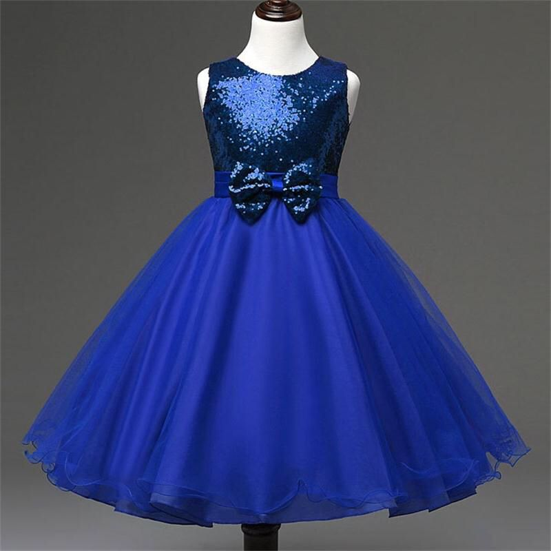 4ae97477324aa Toddler Kids Baby Girl Vest Sequins Tulle Dress Children Party ...