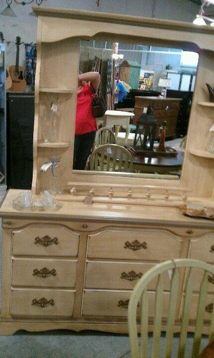 Painted Dresser W Mirror Shelf Dresser With Mirror Painted