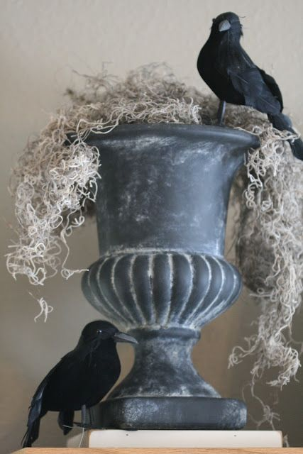 Halloween urn with crows, Nob Hill