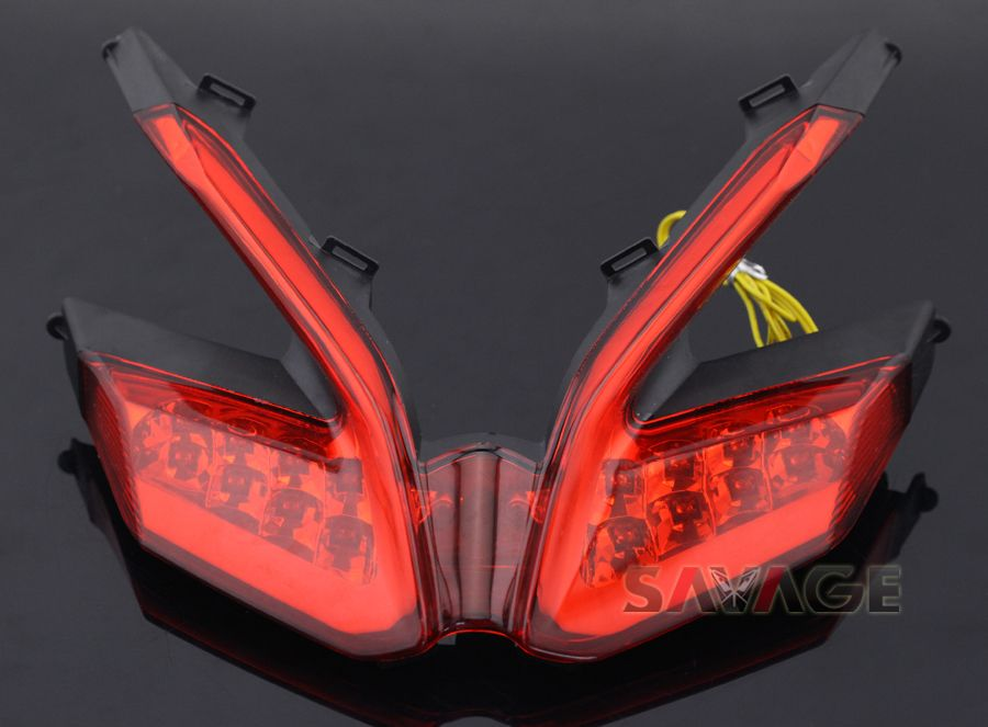 For Ducati 899 959 1199 S R 1299 Panigale Motorcycle Integrated Led Tail Light Turn Signal Blinker Lamp Red Panigale Motorcycle Accessories Ducati