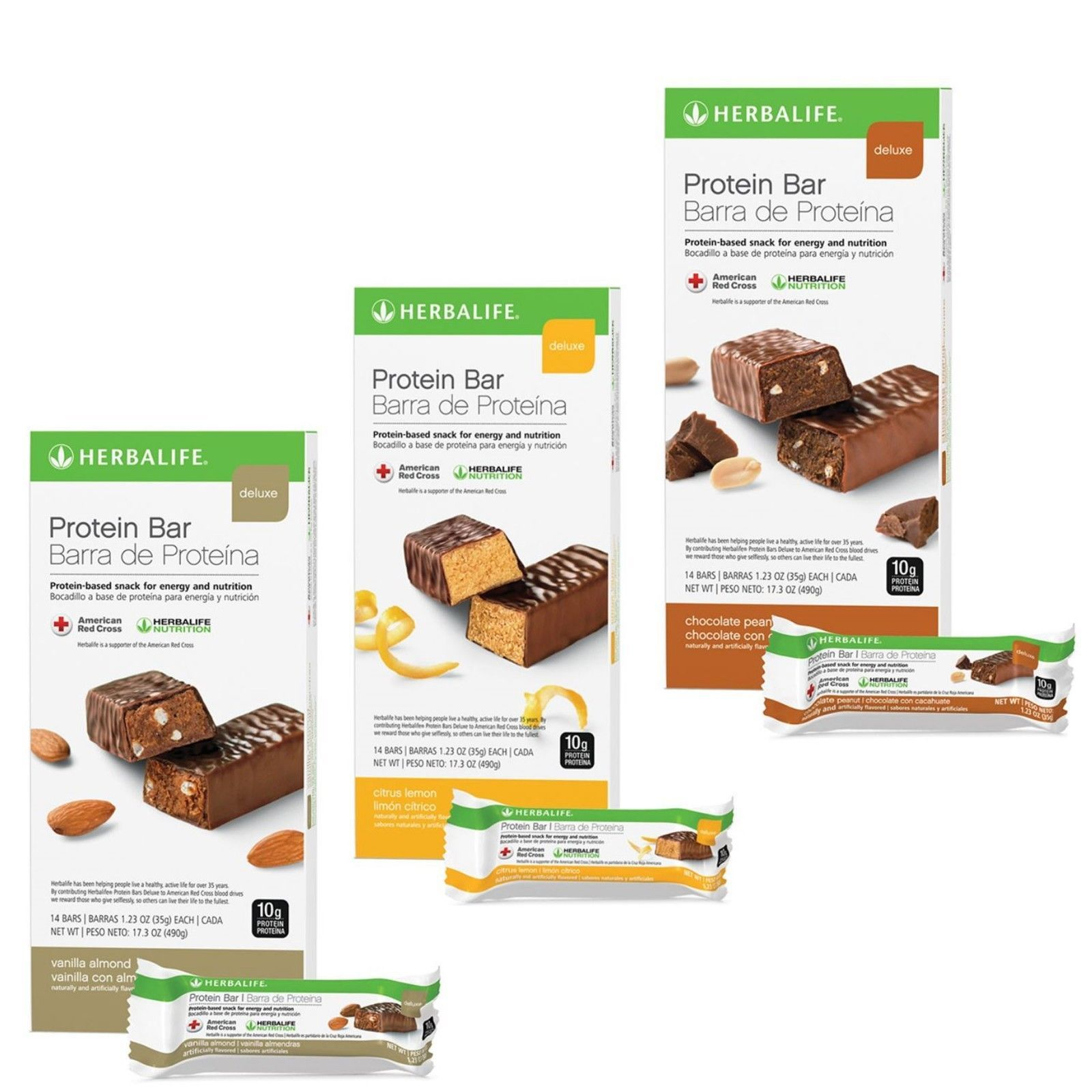 Endurance And Energy Bars Drinks And Pills 1278 Herbalife Protein Bar Deluxe Chocolate Peanut Lemon Vanilla 14 Protein Bars Herbalife Protein Bars Homemade