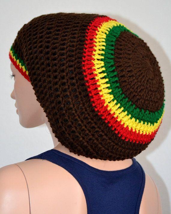 Rasta tam/ Dreadlocks tam/ Handmade Unisex Tam/ Crochet Rasta Tam