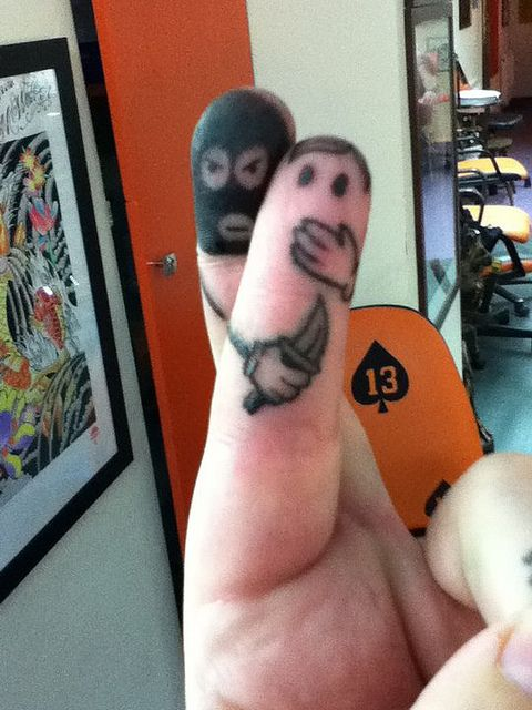 Adam G 13 Ink Tattoo Griffiths Finger Tattoo Stupid Funny