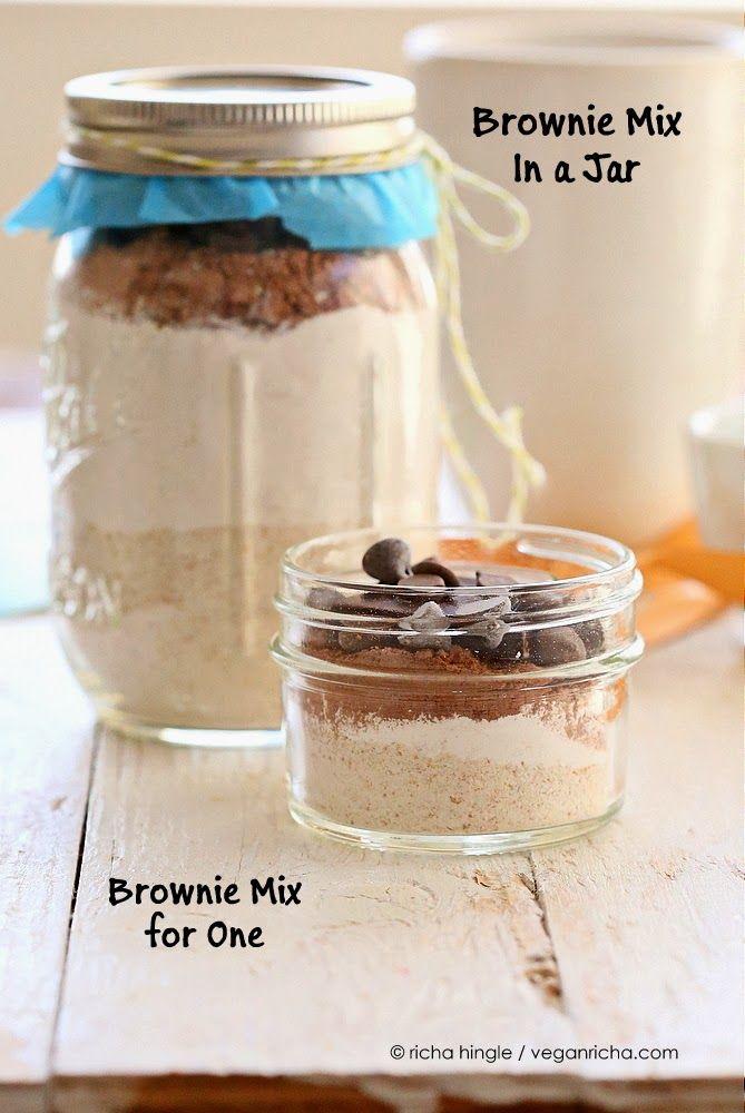 Vegan Brownie Mix In A Jar Single Serve Brownie Too Vegan Recipe Vegan Richa Vegan Christmas Cookies Mason Jar Meals Christmas Cookie Jars