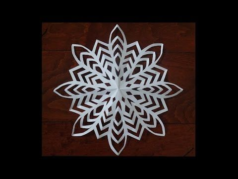 snowflake template youtube  Paper snow flake challenge - Lets see who can do it ...