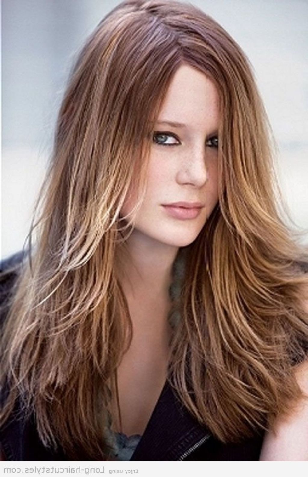 Layered Hairstyles For Long Hair With Side Fringe Layered Hairstyles