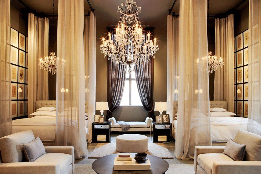 Restoration Hardware S Boston Flagship Store Opens In A Historic Building Sophisticated Bedroom Luxurious Bedrooms Home
