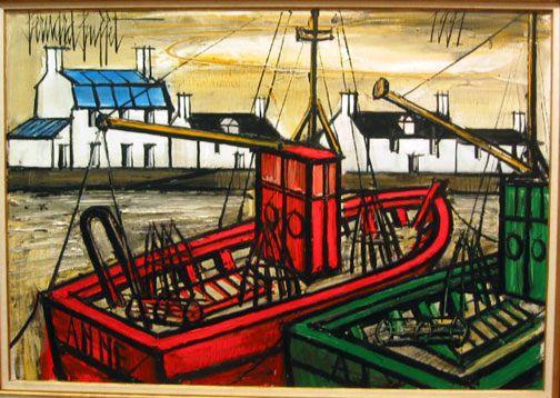 Bernard Buffet  Deu Chalutiers. Google Image Result for http://www.galerierienzo.com/exhibitions/buffet_2008/deux_chalutiers.jpg