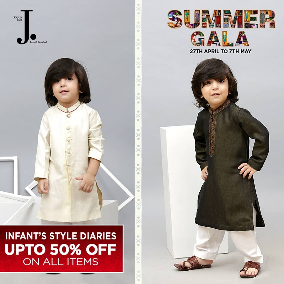 Eid kids kurta shalwar kameez designs 2013 2014 - Junaid Jamshed Summer Gala Kids Collection 2017 Latest Kurta Shalwar Kameez Designs Of Summer Gala Sale 2017 Quiet Baby