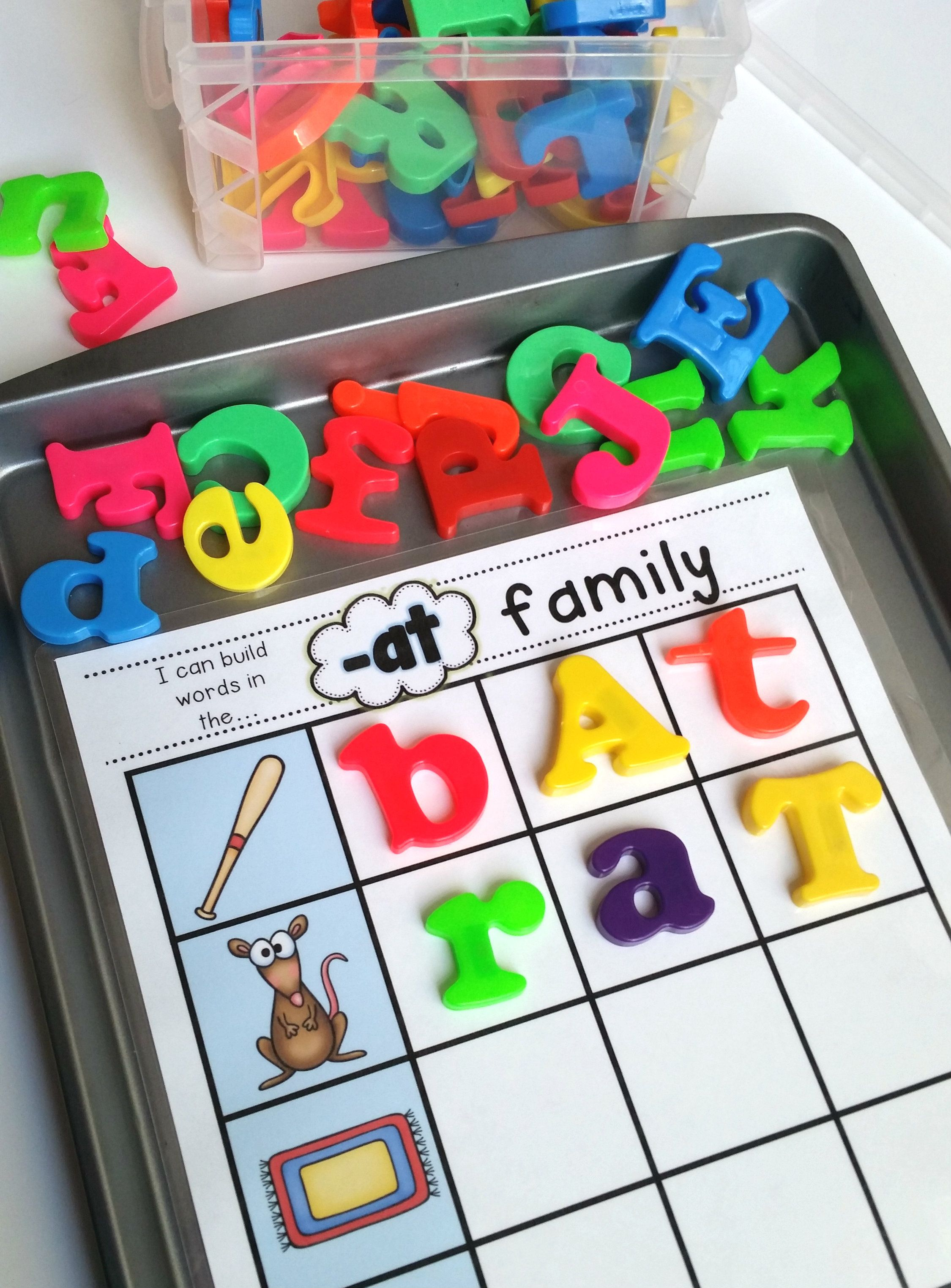 Building Cvc Words Students Use Magnetic Letters Or Dry Erase Markers To Build Words In Word
