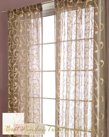 Zino Sheer Curtain Panel Available In 6 Colors And Extra Long Length Sheer Curtains 108 L And