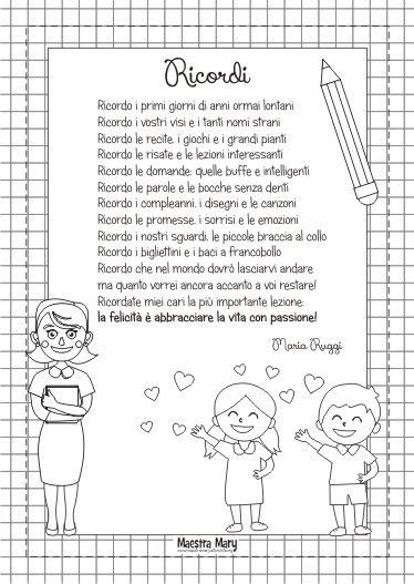 Poesia Saluto Bambini Fine Anno Citazioni Divertenti Diploma Di