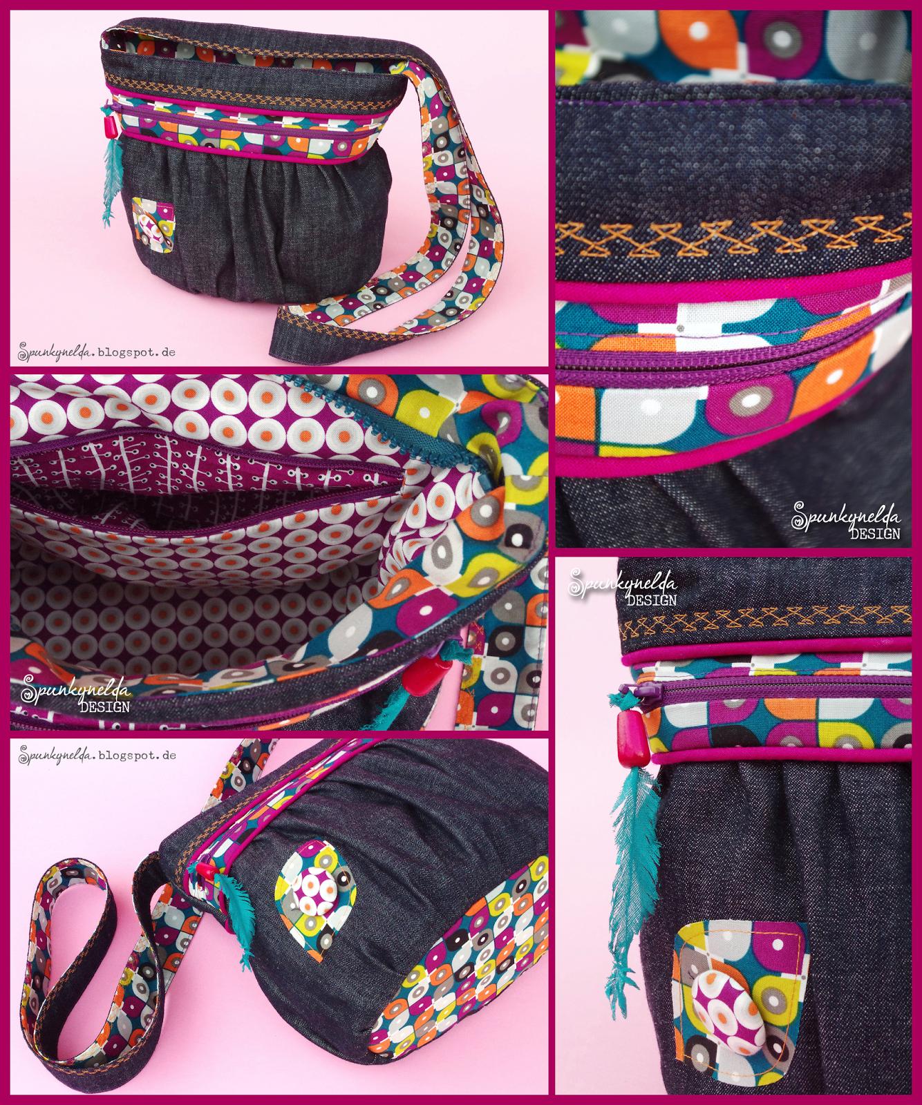 Handtasche KIRA nach meinem freebook - von Spunkynelda | selfmade ...