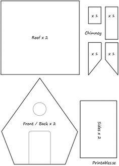 pepparkakshus ritning gingerbread house template  Mall till pepparkakshus 6   jul   Gingerbread house patterns ...