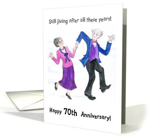 70th Wedding Anniversary Card Dancing Couple Card