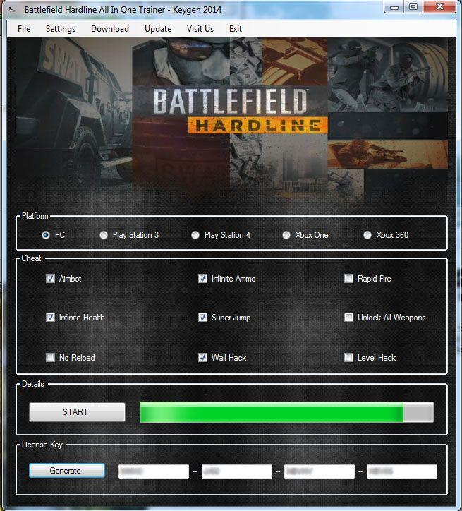 hardline keygen battlefield