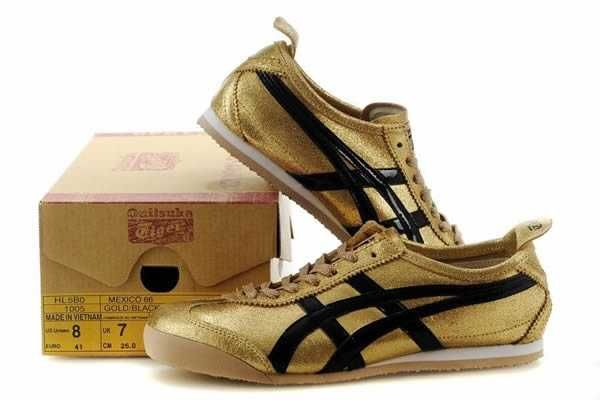 low priced 31fdf 2af61 UK Onitsuka Tiger Womens Onitsuka Tiger Mexico 66 Gold Black ...