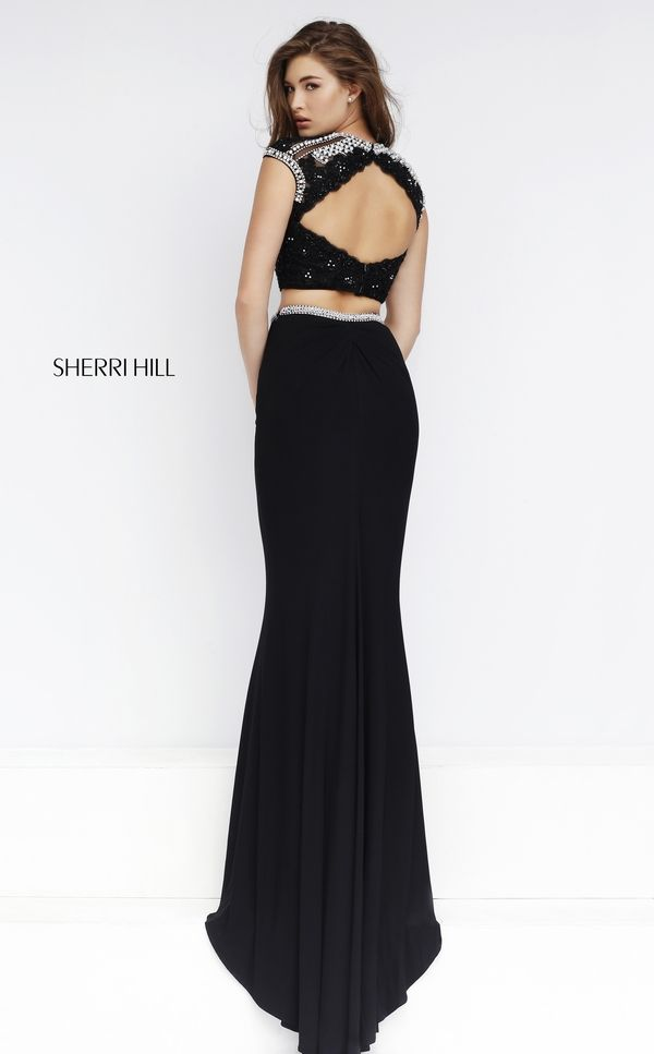 Wow them with the sleek glamour of the Sherri Hill 50025 full-length ...