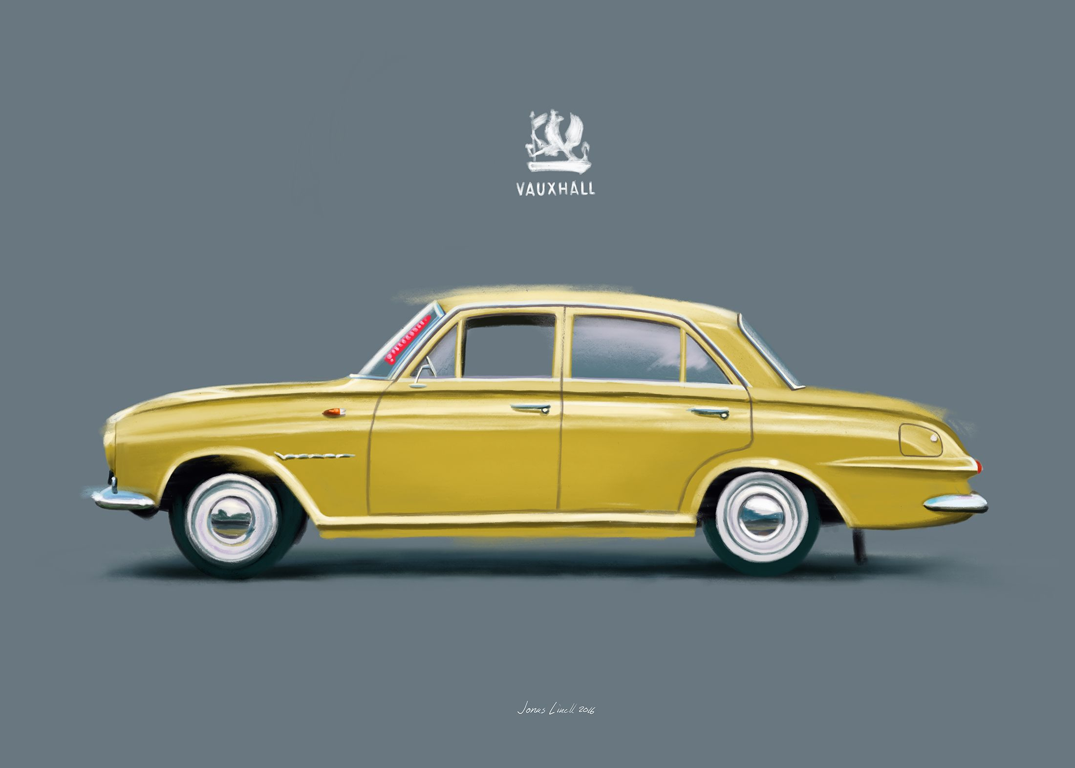 A Vauxhall Victor painted for a Danish client. By Jonas Linell 2016. ‪#‎carart‬ ‪#‎classiccars‬ ‪#‎vauxhall‬ ‪#‎victor‬ ‪#‎vintage‬ ‪#‎cars‬ ‪#‎car‬ ‪#‎illustration‬ ‪#‎classic‬ ‪#‎british‬ ‪#‎UK‬ ‪#‎GB‬ ‪#‎art‬ ‪#‎posters‬ ‪#‎painting‬ ‪#‎artwork‬