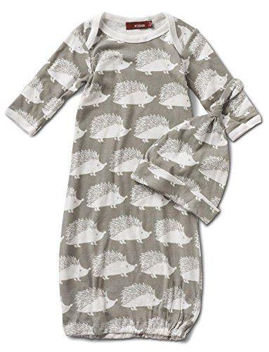 Milkbarn Newborn Gown and Hat Set