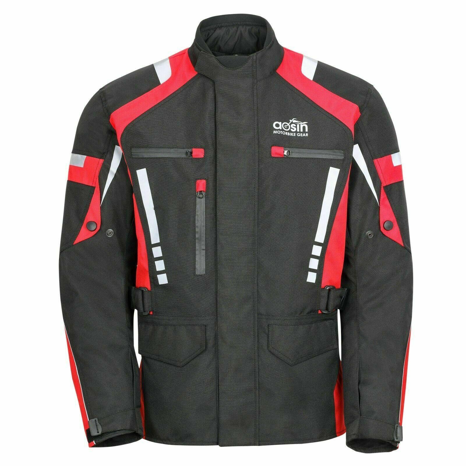 Mens Motorcycle Jacket Cordura Textile CE Armored