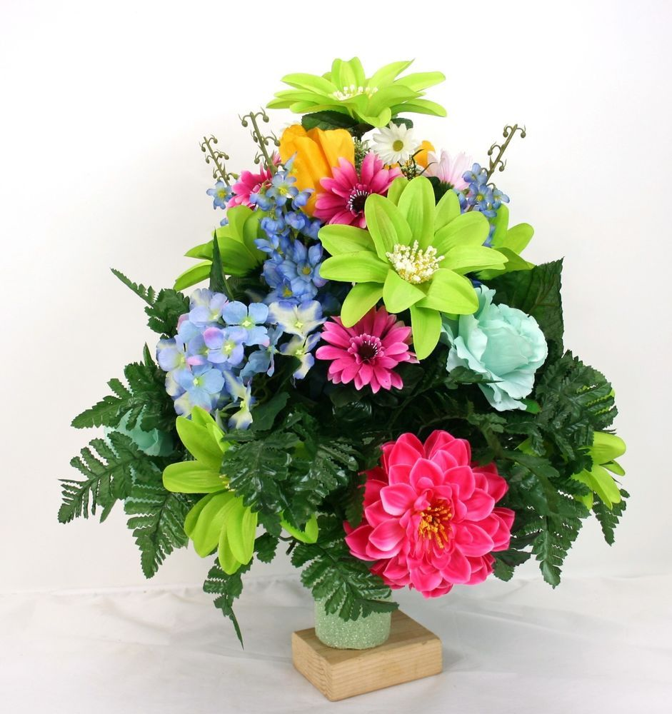 Fathers day cemetery vase flower arrangement featuring beautiful fathers day cemetery vase flower arrangement featuring beautiful spring flowers reviewsmspy