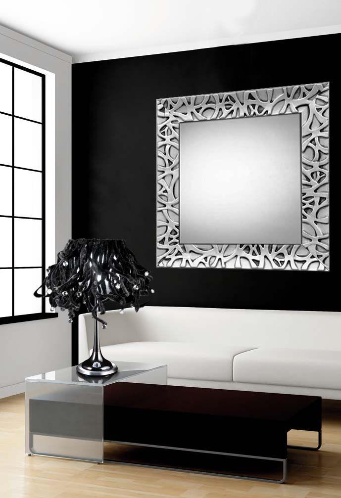 Espejos de madera a medida espejos de madera modelo for Espejos decorativos modernos