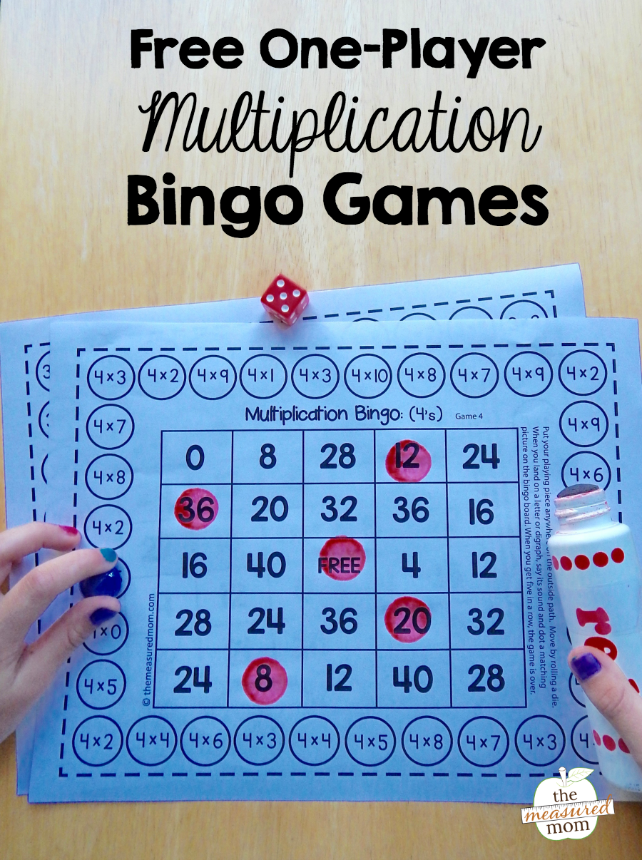 Free single-player multiplication bingo games | 4th Grade ...