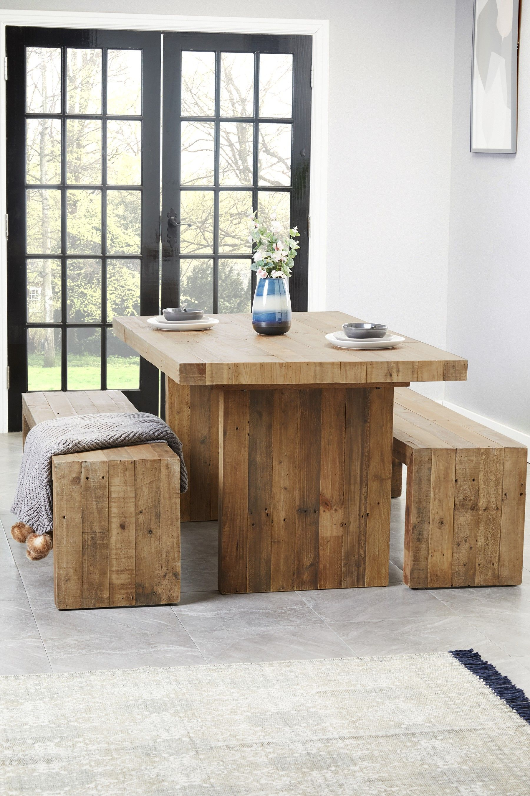 next brooklyn fixed dining table  natural  dining table
