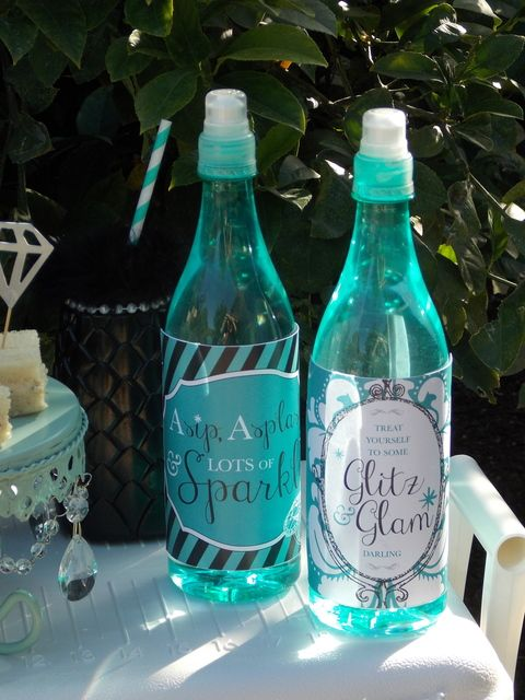 Drinks at a Tiffany's Party #tiffanys #party