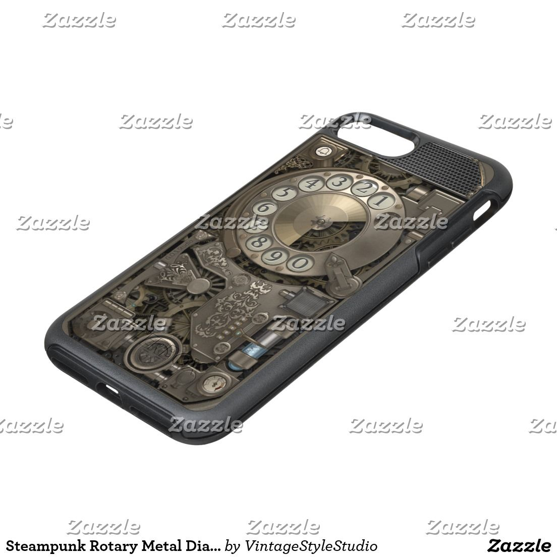 steampunk rotary metal dial phone otterbox symmetry iphone 7 plus case steampunk samsung iphone cases s6 s7 ipad samsunggalaxys victorian  [ 1104 x 1104 Pixel ]