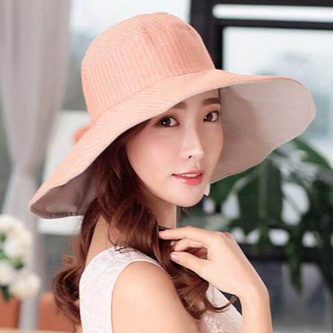 2cfcd7e1 Casual wide brim sun hat for women UV protection travel sun hat ...