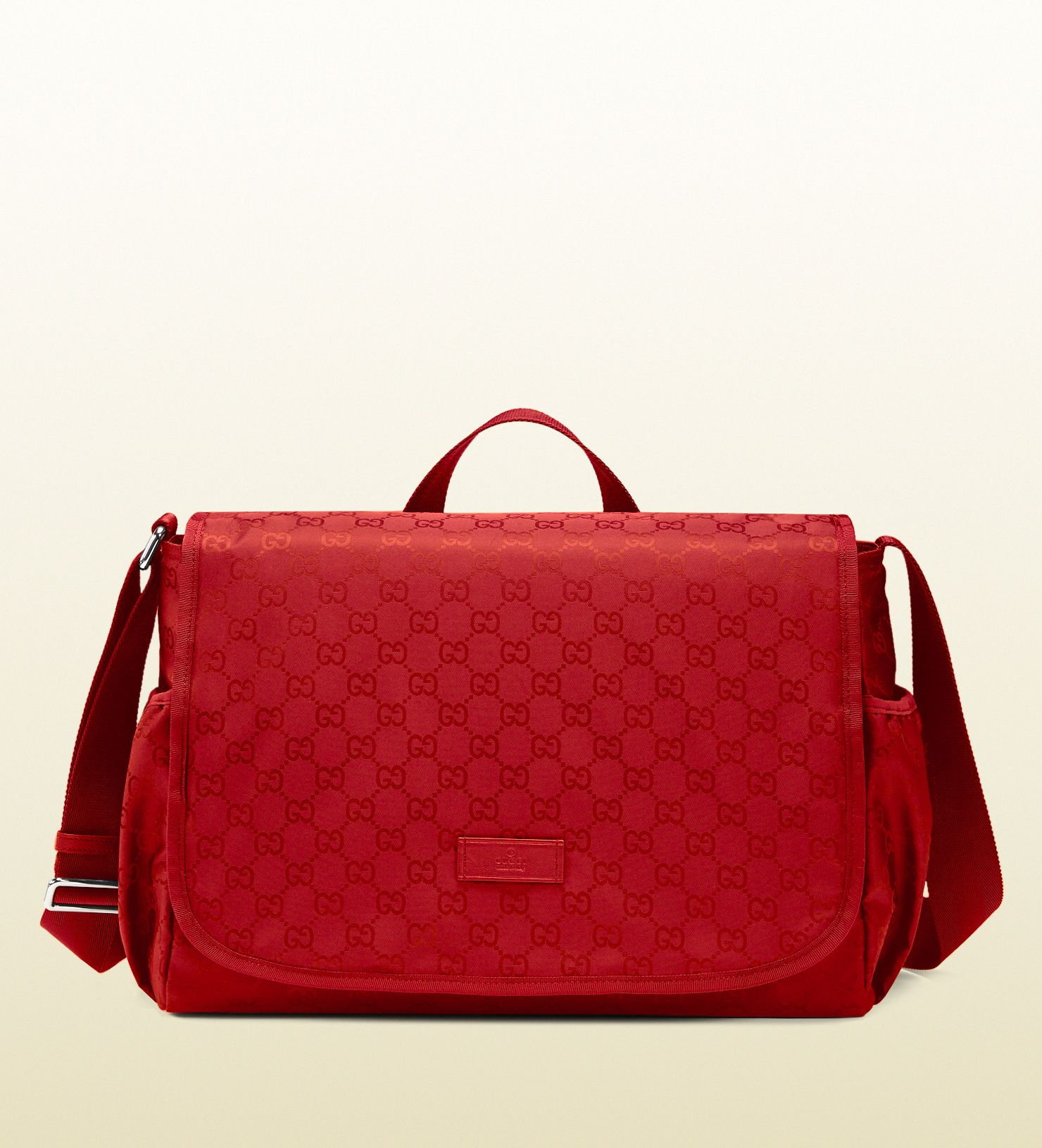 ff1dc1b4787 Gucci Red Red Nylon Ssima Diaper Bag - mega pricey