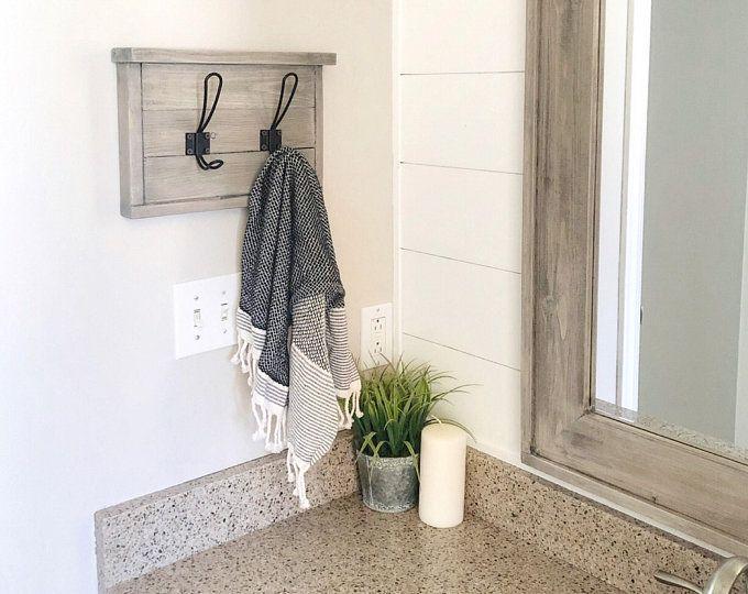 Small Hand Towel Holder, Towel Rack, Bathroom Decor, Towel Rack, Farmhouse Bathroom, Towel Hook, Kitchen Towel Holder Industrial #handtowels