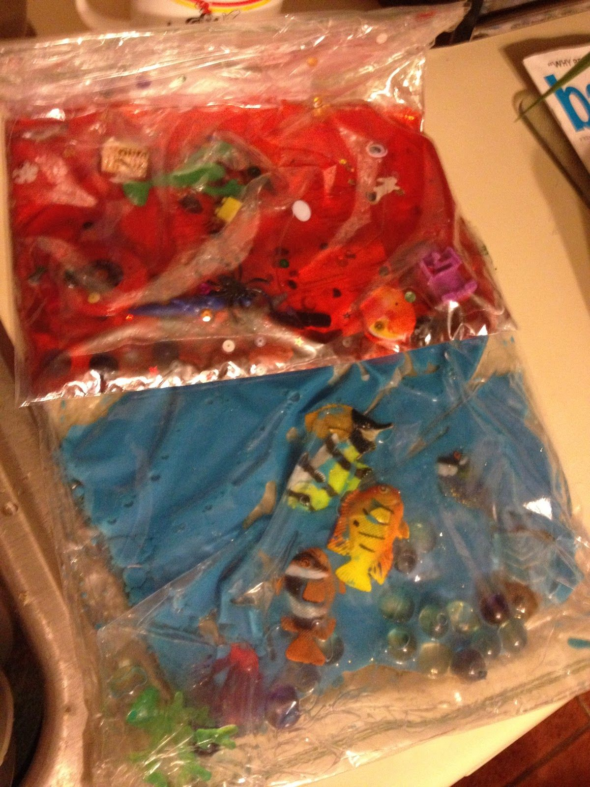 Sensory Bins And Bags I Spy Ocean Blue And An African