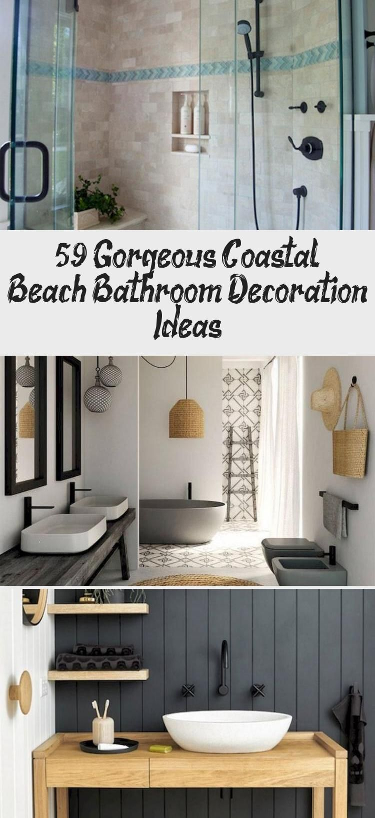 59+ Gorgeous Coastal Beach Bathroom Decoration Ideas – Decor Bathroom