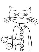 Pete The Cat Groovy Buttons Coloring Page Pete The Cat Pinterest