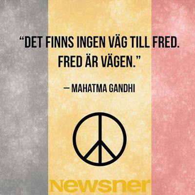 Eva Swedenmarks Värld: Fred är vägen och kärleken vägvisaren