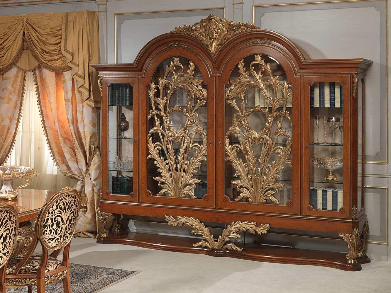 Vetrina Versailles in stile Luigi XVI жидкий метал на стекле ...