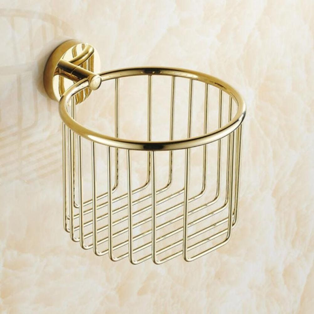 All Bronze Gold Toilet Paper Holders Wall Mounted Bathroom Accessories Tissue Holders Roll Tissue Holder Tissue Storage Organization Paper Towel Boligindretning