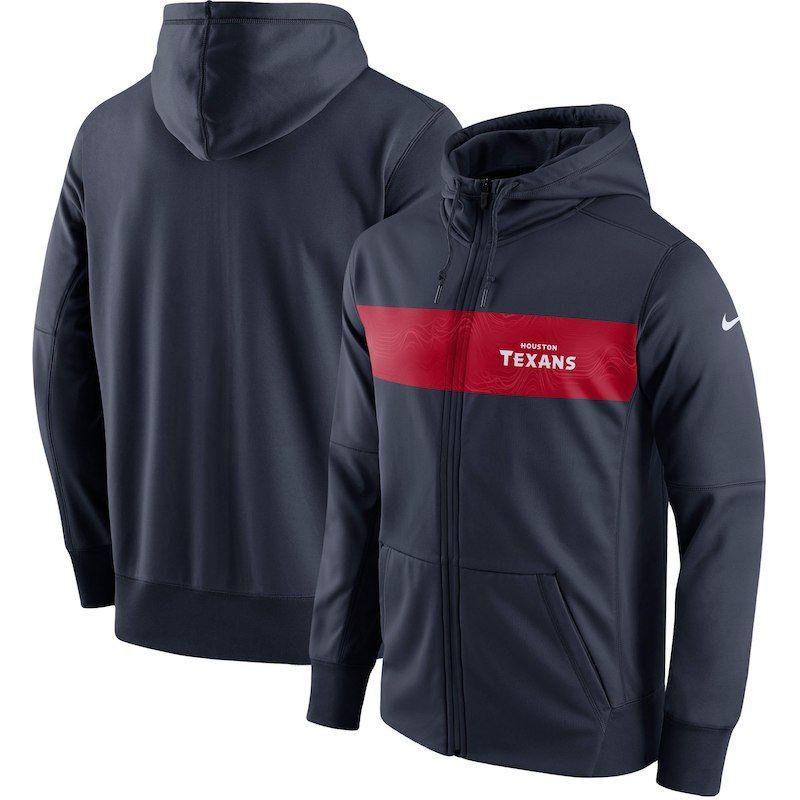 Houston Texans Nike Team Sideline Full Zip Performance