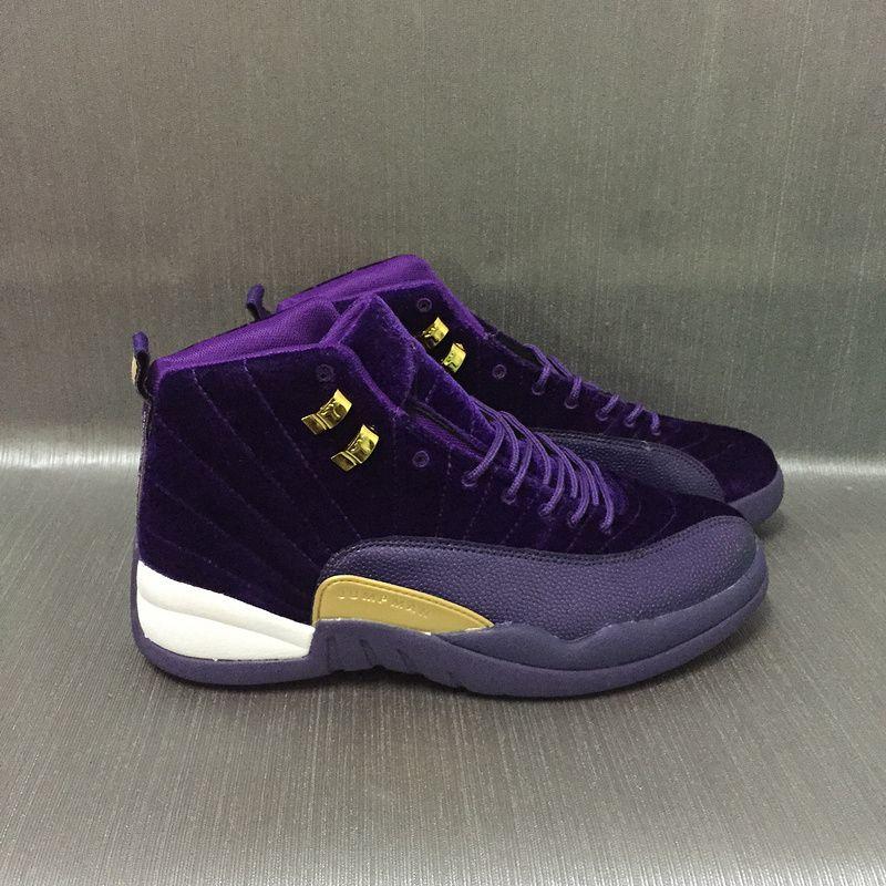 buy online 9d7a4 7b825 New Air Jordan 12 Velvet Purple Gold Shoes | Stuff to buy | Jordans ...