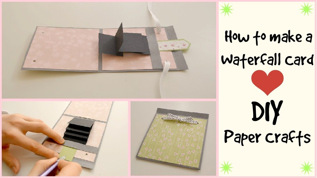 How To Make A Waterfall Card Diy Paper Crafts Scrapbooking