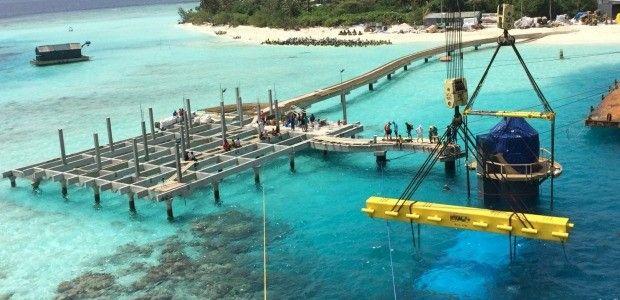Worlds largest underwater restaurant in Maldives