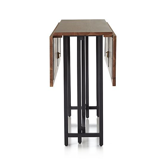 origami drop leaf dining table in dining tables crate and barrel seattle furnishings. Black Bedroom Furniture Sets. Home Design Ideas