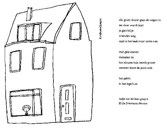 Verhuizen Kleurplaat Gedichtje Huis Thema Wonen Bouwen Pinterest
