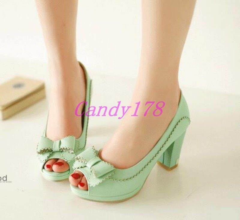 4b7d247a32d Womens Peep Toe Round Toe Mary Jane Block Pumps High Heels Dress Shoes Plus  Size in Clothing
