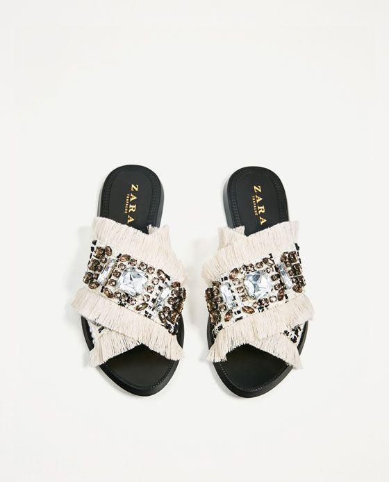 Nouvelles Arrivées hot-vente dernier les mieux notés dernier Zara - claquette en tissu - taille 37 - 50€ | Shoes in 2019 ...