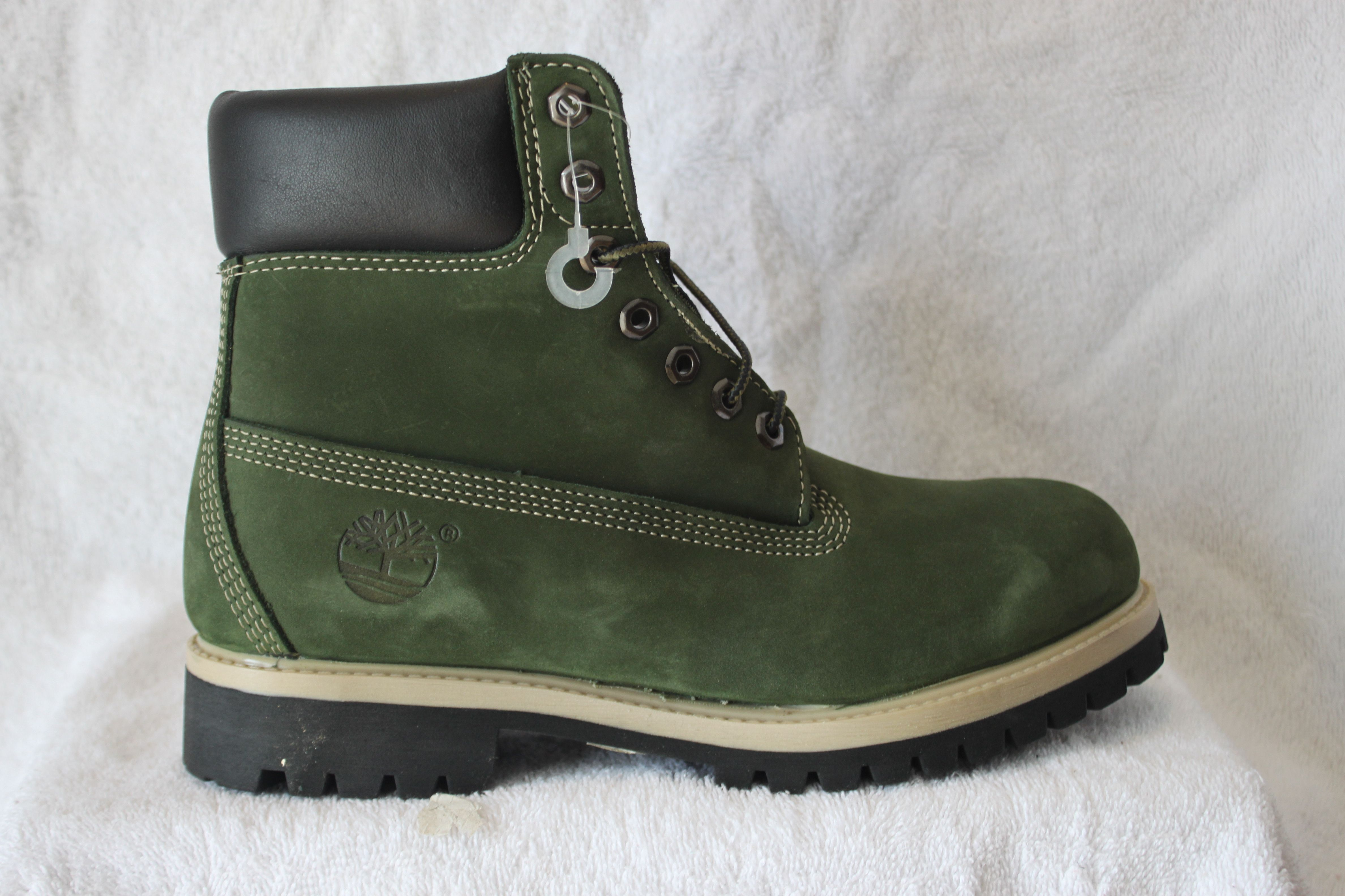 Forest green timberland boots